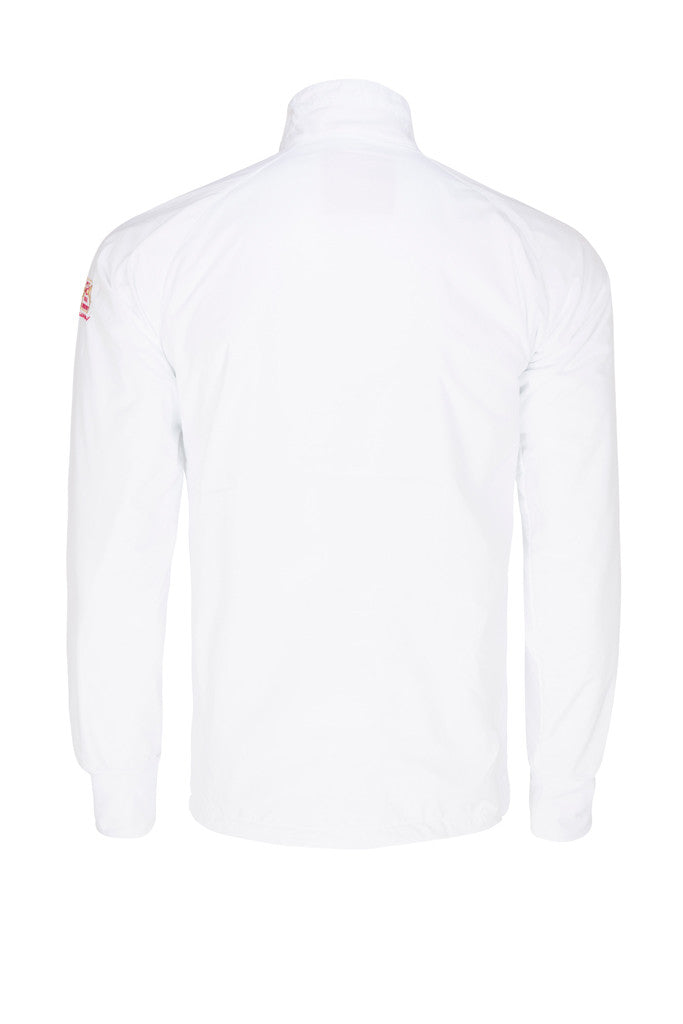 Paul Carberry - PC Racewear - PC Fleece Horse Riding Top - White (back view)