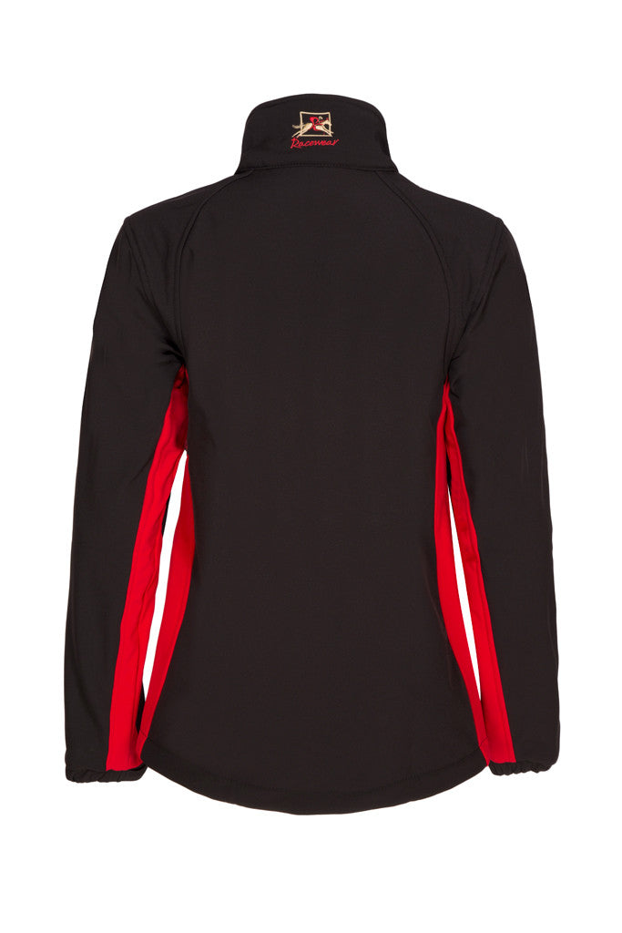 Paul Carberry PC Racewear  - PC Softshell Jacket Black/Red (back view)