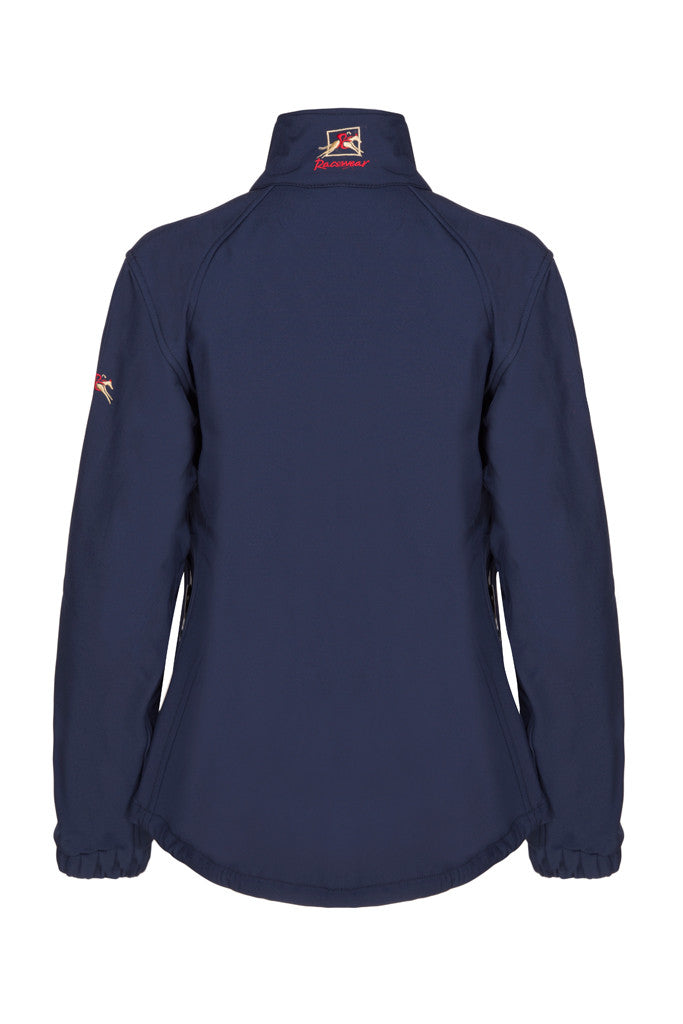 Paul Carberry PC Racewear Softshell Jacket Navy (back view)