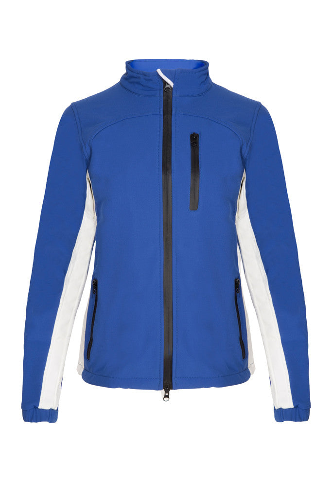 Paul Carberry PC Racewear Softshell Jacket Royal Blue/White