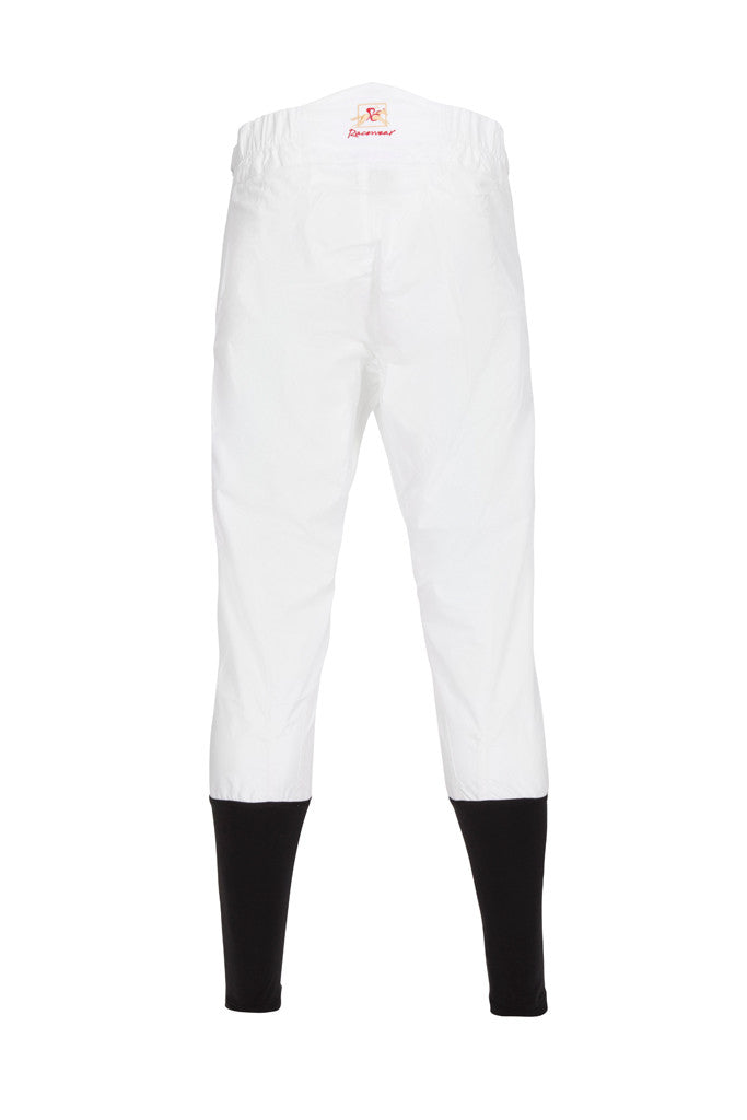 PC Race Breeches - White with Black Lycra (back view)