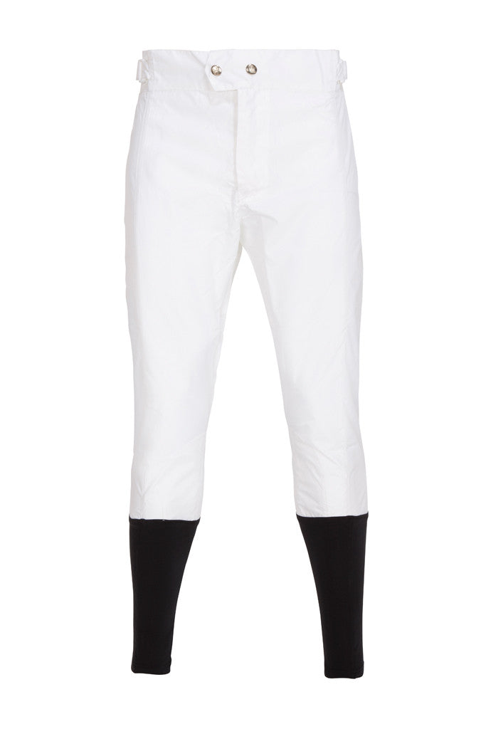 PC Race Breeches - White with Black Lycra