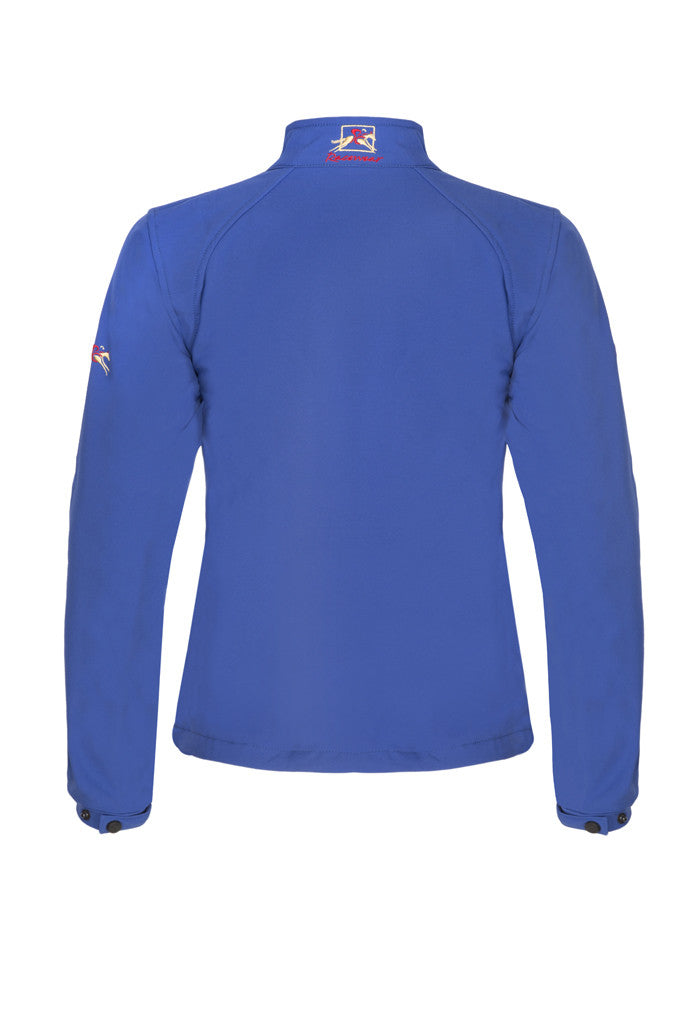 Paul Carberry PC Racewear Softshell Jacket Royal Blue (Back)