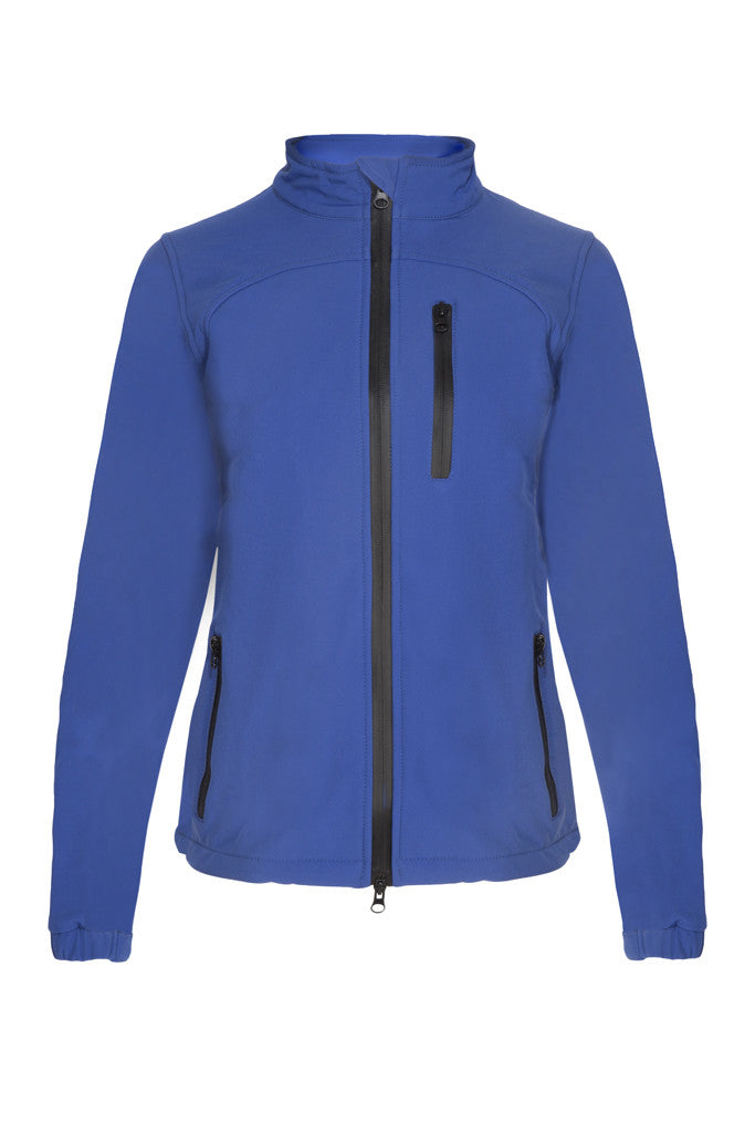 Paul Carberry PC Racewear Softshell Jacket Royal Blue (Front)