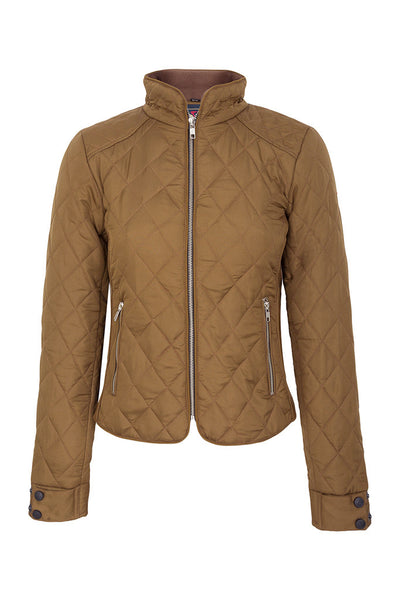 A Little Bit Racey Jacket in Caramel - Front - PC Racewear