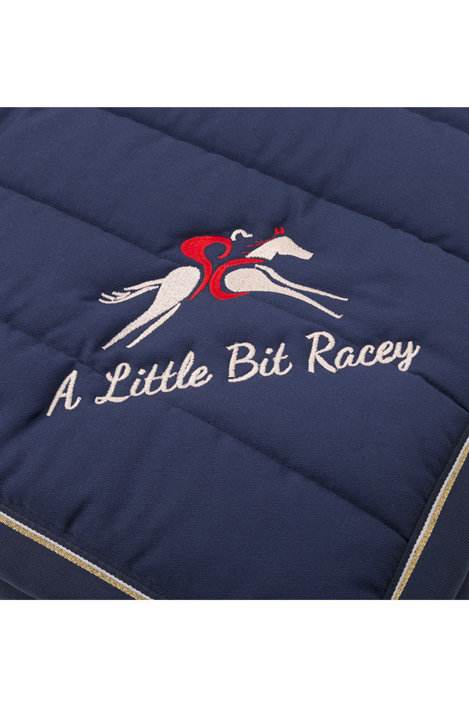 Paul Carberry - A Little Bit Racey Saddle Pad - Logo detail