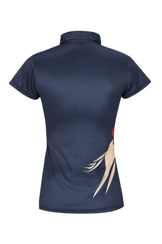 Paul Carberry PC Racewear - A Little Bit Racey Polo Shirt Navy Front