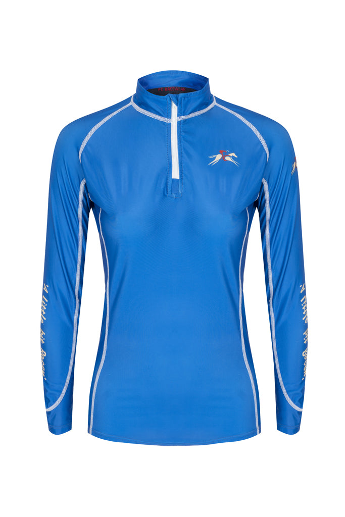 A Little Bit Racey Sprint - Lycra Top - Royal Blue - PC Racewear
