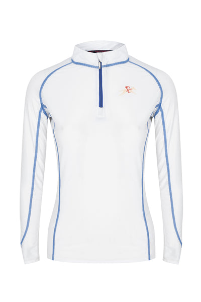 A Little Bit Racey Sprint - Lycra Top - White - PC Racewear