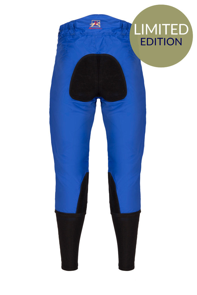 Paul Carberry PC Racewear Horse Riding Breeches Royal Blue Back - Limited Edition