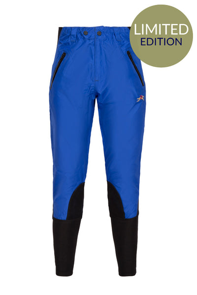 Paul Carberry PC Racewear Horse Riding Breeches Royal Blue Front - Limited Edition
