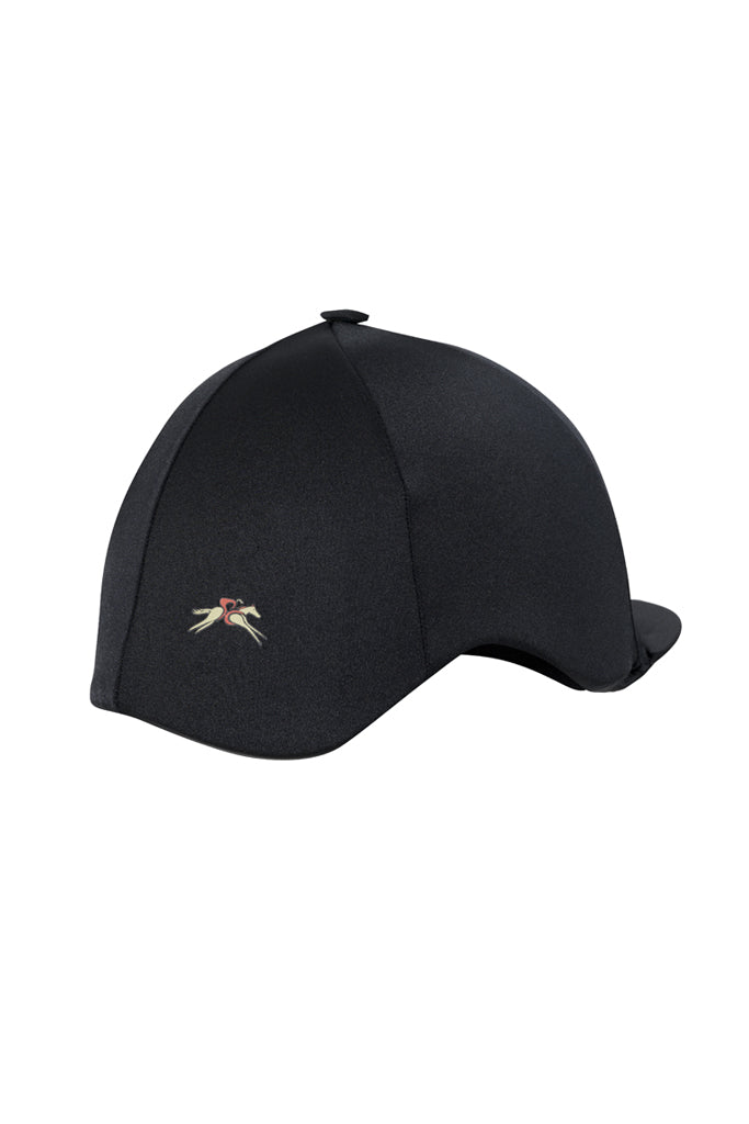 Paul Carberry PC Racewear Horse Riding Hat Cover Silk  - Black Back