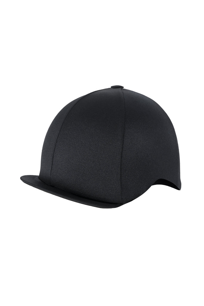 Paul Carberry PC Racewear Horse Riding Hat Cover Silk  - Black Front