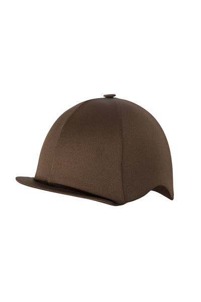Paul Carberry PC Racewear Horse Riding Hat Cover Silk -  Chocolate Brown Front