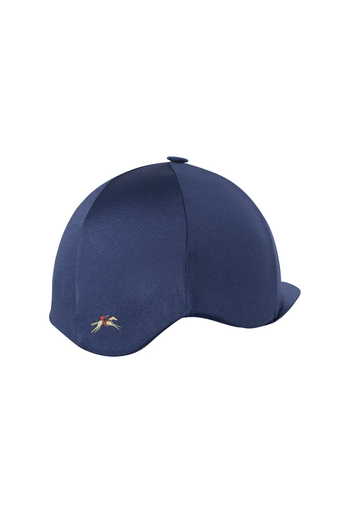 Paul Carberry PC Racewear Horse Riding Hat Cover Silk - Classic Navy Back