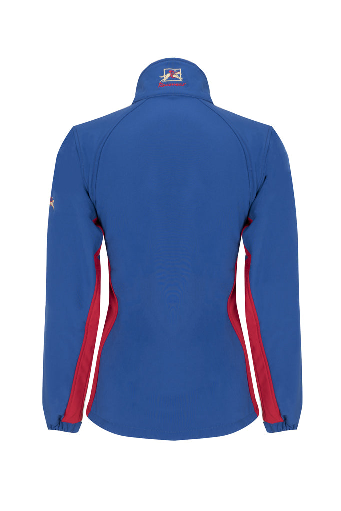 Paul Carberry PC Racewear  - PC Softshell Jacket Royal Blue/Red Back