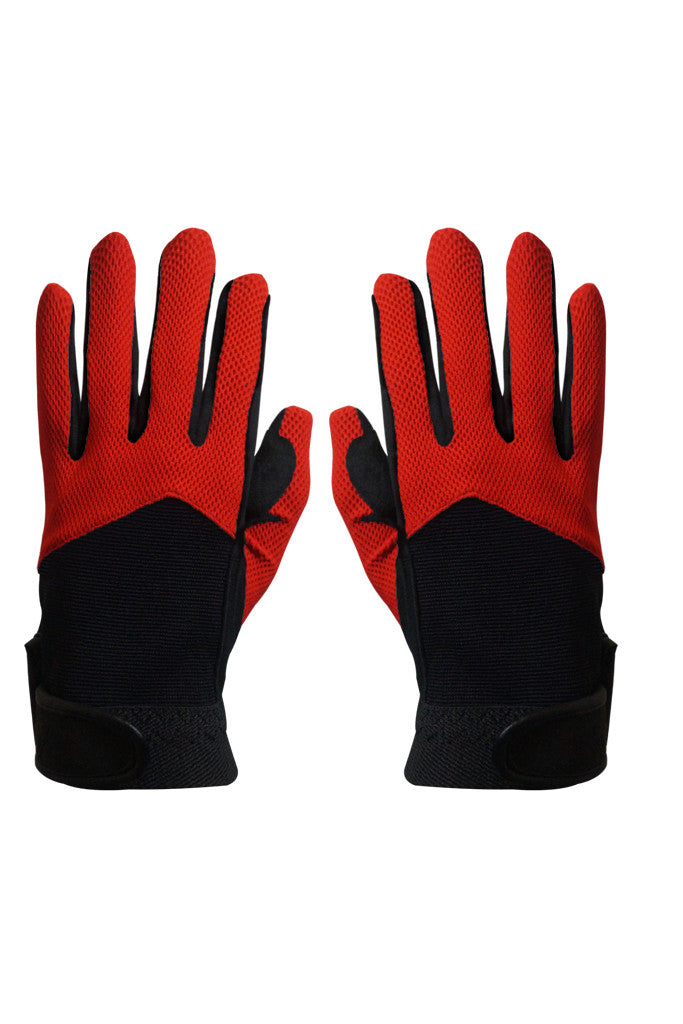 Paul Carberry PC Racewear PC Gloves Black Red