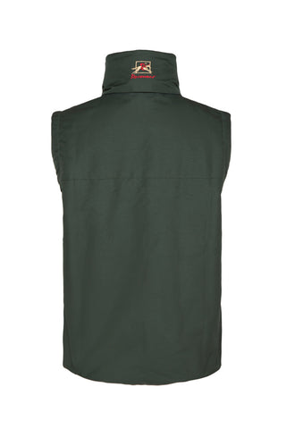 Paul Carberry PC Racewear Warmer - Fleece Sleeveless Horse Riding Gilet With Hood Water Resistant - Green - Childrens
