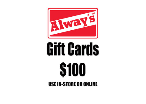 $100 Always Boardshop Instant Gift Card