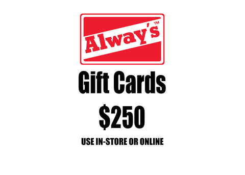 $250 Always Boardshop Instant Gift Card