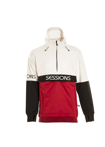 Sessions Recharge Bonded Riding Hoodie White 2021