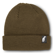 Crab Grab Claw Label Brown Beanie