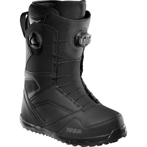 Thirtytwo STW Double Boa Black Mens Snowboard Boots 2021