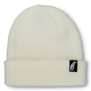 Crab Grab Claw Label White Beanie