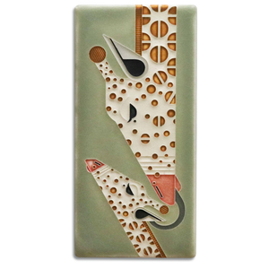 Giraffe and a Half Art Tile