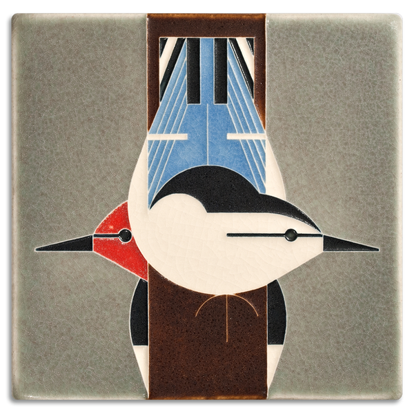 Motawi Charley Harper Upside Downside Tile