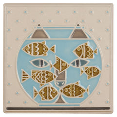 "Rookwood Fishful Thinking Tile (8""x8"")"