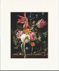 "Flower Still Life 11"" x 14""  Matted Print"