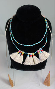 Esme Wrap Necklace with Tassels by Bluma Project