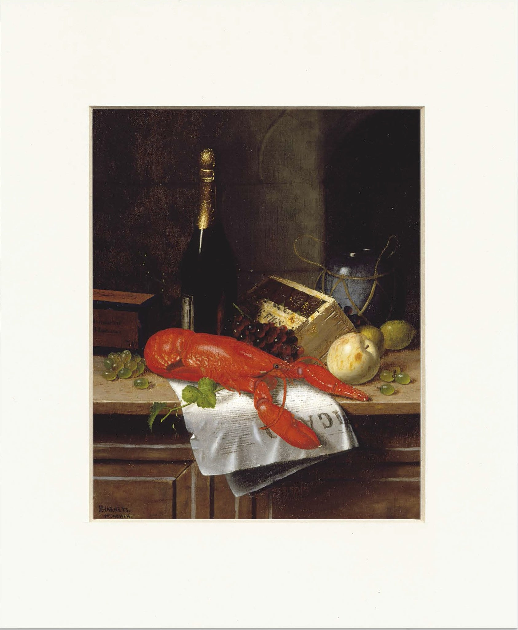 "Lobster and Le Figaro 11"" x 14""  Matted Print"