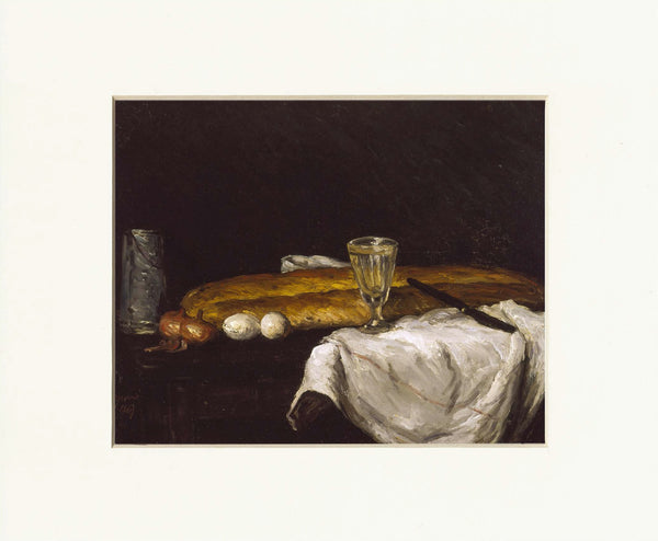 "Still Life with Bread and Eggs 11"" x 14""  Matted Print"