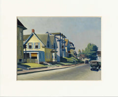 "Sun on Prospect Street (Gloucester, Massachusetts) 11"" x 14""  Matted Print"