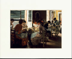 "Venetian Lacemakers 11"" x 14""  Matted Print"