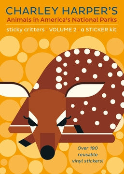 Charley Harper's Animals in America's National Parks: Stick Critters Vol. 2 Sticker Book