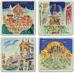 Cincinnati Treasures Stone Coaster Set