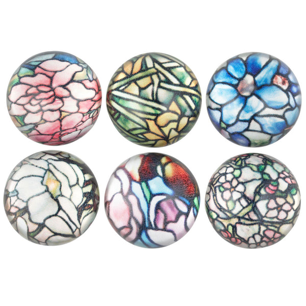 Louis C. Tiffany Lamps Domed Magnets