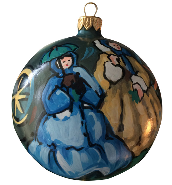 """Women at the Races"" Manet Ornament"