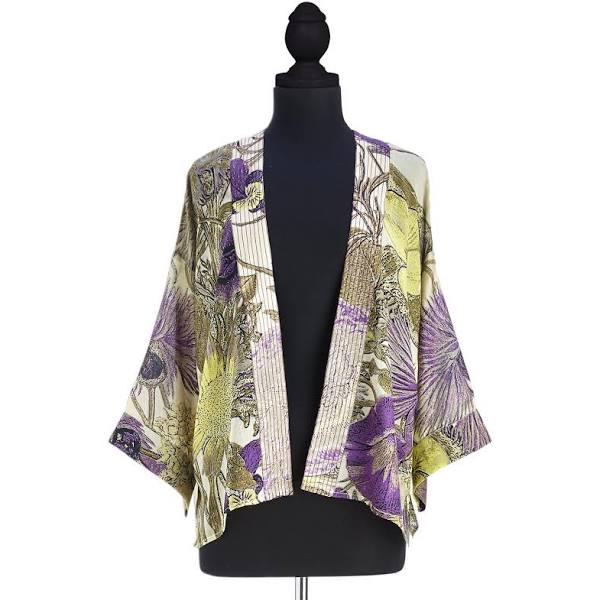 Thistle Purple Short Kimono (one size fits most) - Viscose/Modal