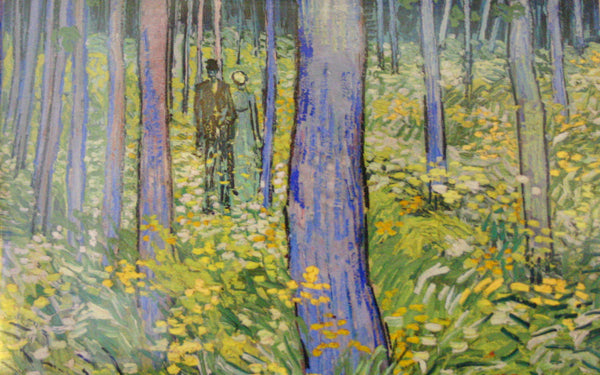 Van Gogh: Undergrowth With Two Figures Small Notepad