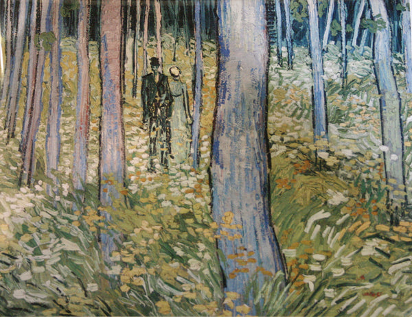 Van Gogh: Undergrowth With Two Figures Notecard