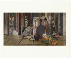 "The Silk Merchant, Japan 11"" x 14""  Matted Print"
