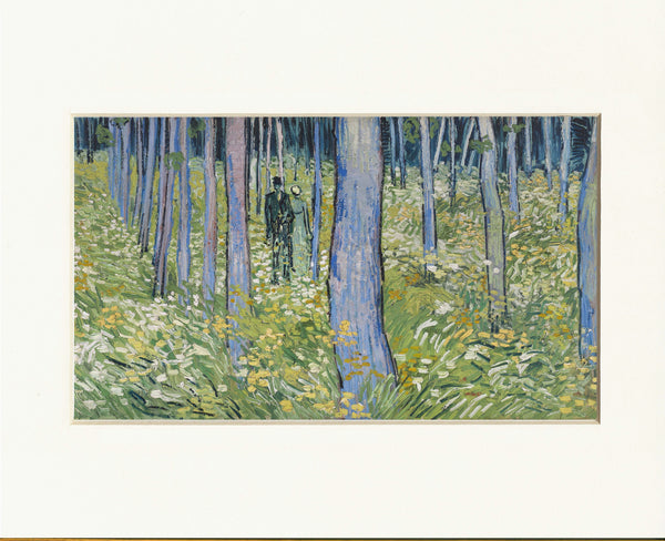 "Van Gogh Undergrowth with Two Figures 11"" x 14""  Matted Print"