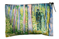 Van Gogh: Undergrowth With Two Figures Zipper Bag