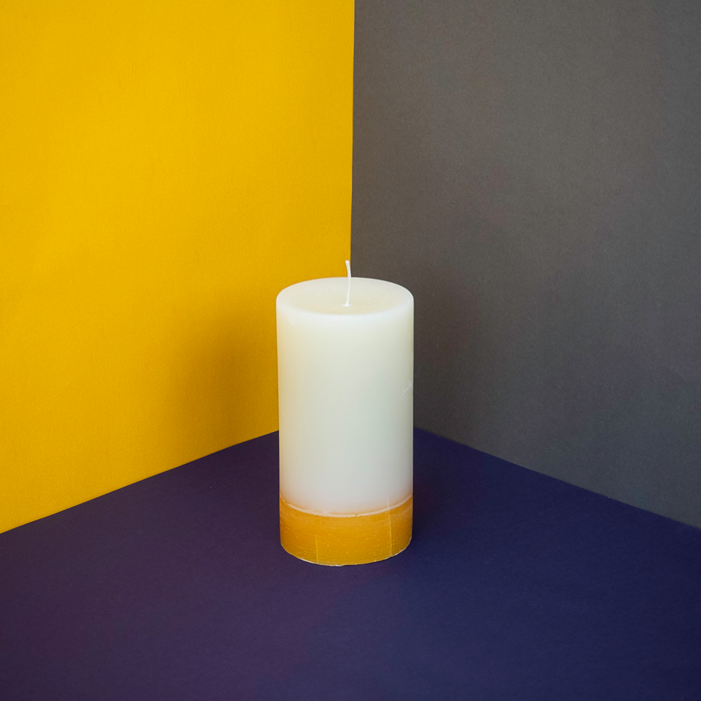 Load image into Gallery viewer, Ginger & Lime Pillar Candle