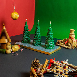 Large Green Christmas Tree Set