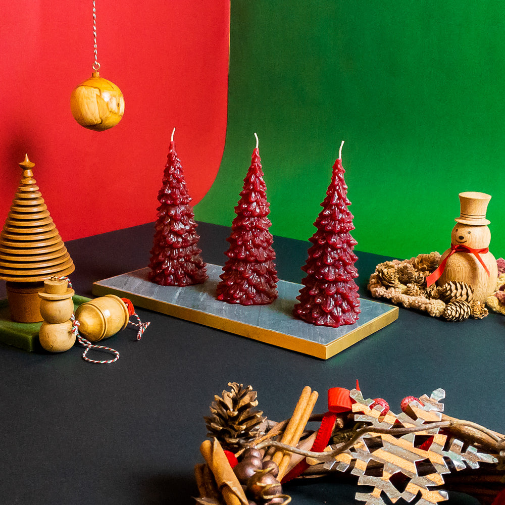 Large Red Christmas Tree Set
